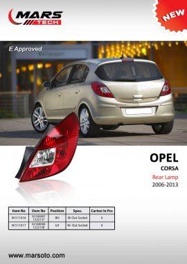 Opel Corsa 2006 2013 Rear Lamp