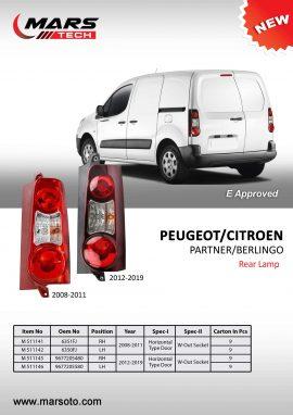 PEUGEOT Partner 2012 2019 rear lamp