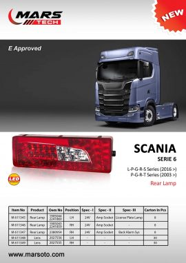 Scania 6 Seriesi 2007 2017 Rear Lamp